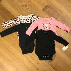 Cat & Jack Newborn Long Sleeved Onesies (4 total)